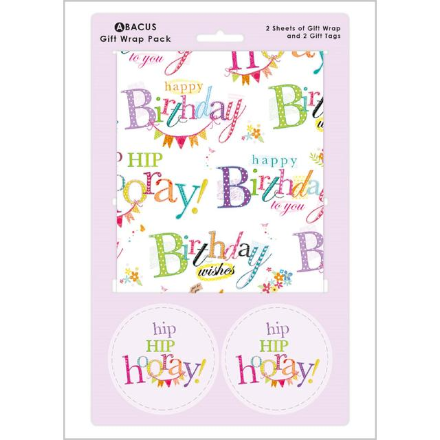 Happy Birthday Gift Wrap Sheets