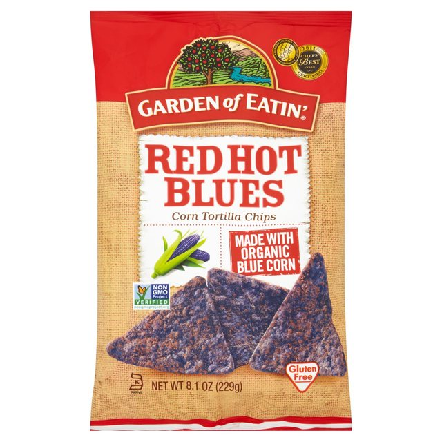 Garden Of Eatin Red Hot Blues Tortilla Chips 229g from Ocado