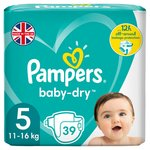 Pampers Baby-Dry Size 5, 39 Nappies