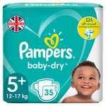 Pampers Baby Dry Nappies Size 5+ Essential Pack