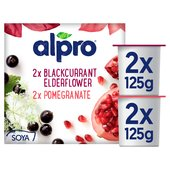 Alpro Blackcurrant, Elderflower & Pomegranate Yoghurt Alternative