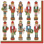 Nutcracker Parade White Christmas Napkins 33cm