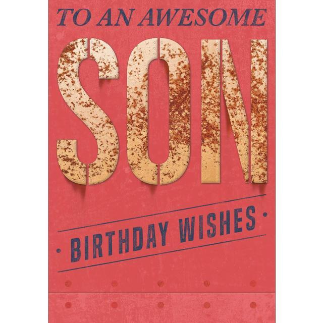 Son Birthday Card Awesome Son From Ocado