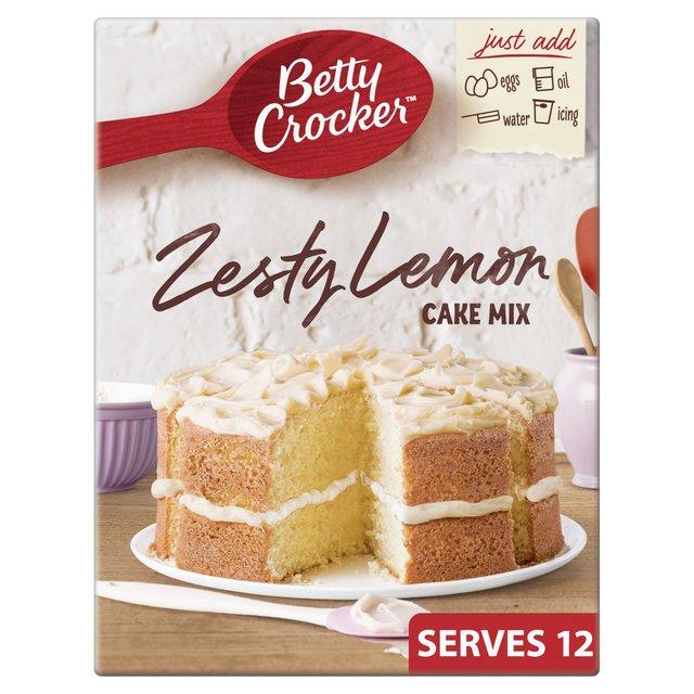 Lemon Cake Made With Betty Crocker Yellow Cake Mix