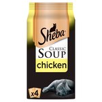 Sheba Classic Soups Chicken Adult Wet Cat Food Pouches
