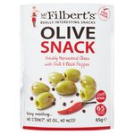 Mr Filberts Olive Snacks Pitted Green Olives with Chilli & Blackpepper