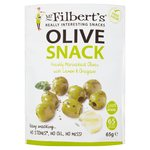 Mr Filberts Olive Snacks Pitted Green Olives with Lemon & Oregano