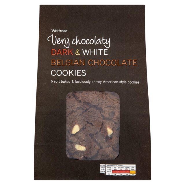 Waitrose Dark & White Belgian Chocolate Cookies
