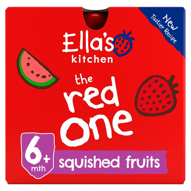 Ella S Kitchen Organic Smoothie Fruits The Red One 5 X 90g