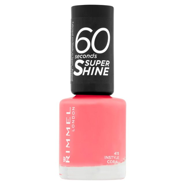 Rimmel 60 Seconds Super Shine Nail Polish, Instyle Coral