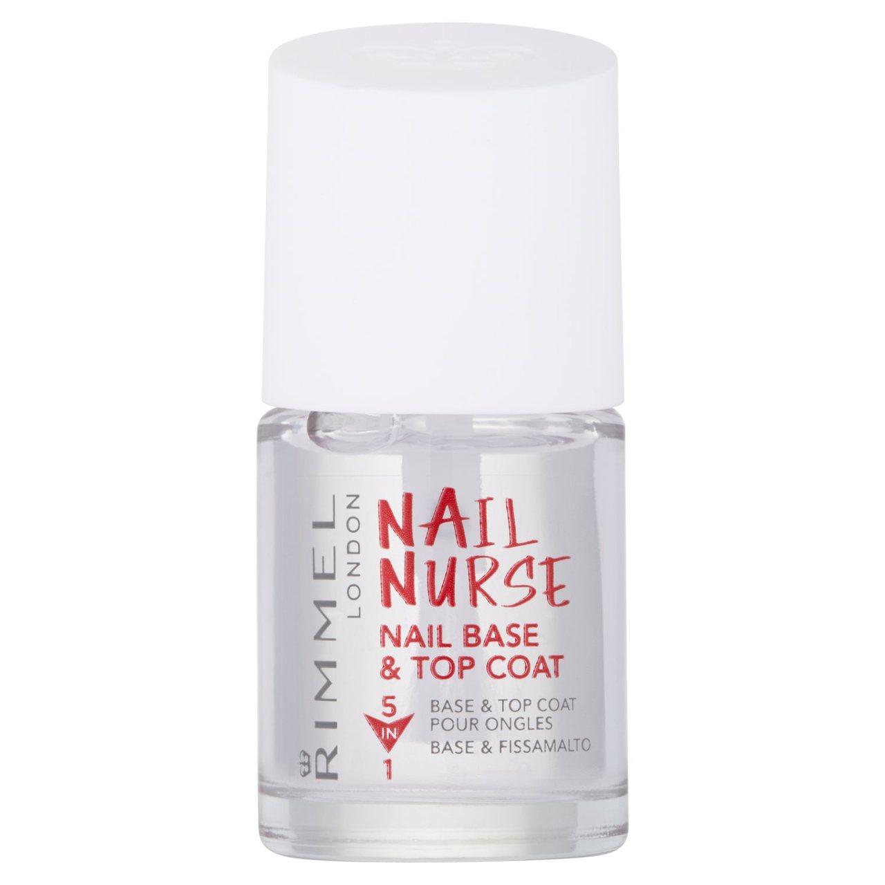 An image of Rimmel Nail Nurse 5 in 1 Base & Top Coat