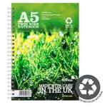 Silvine A5 Twin Wire Recycled Notebook