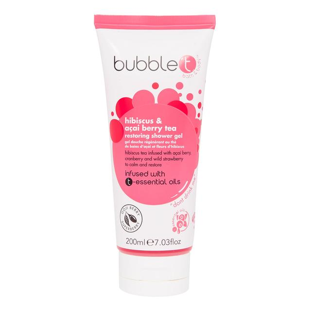 Bubble T Shower Gel, Hibiscus & Acai Berry Tea