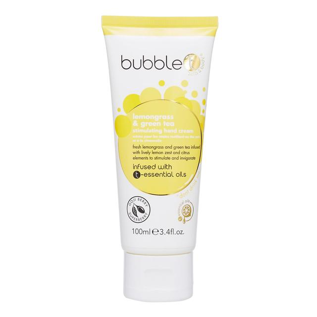 Bubble T Hand Cream, Lemongrass & Green Tea