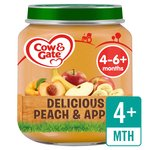 Cow & Gate Delicious Peach & Apple Jar