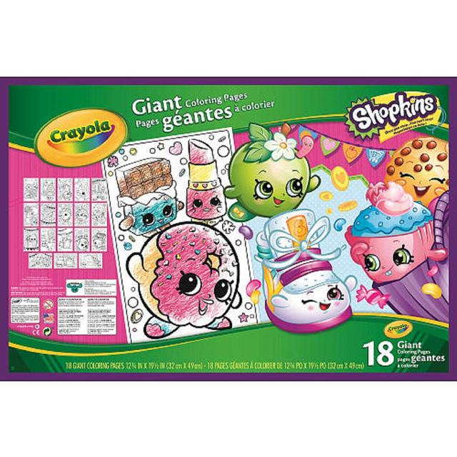 Crayola Shopkins Giant Colouring Pages from Ocado