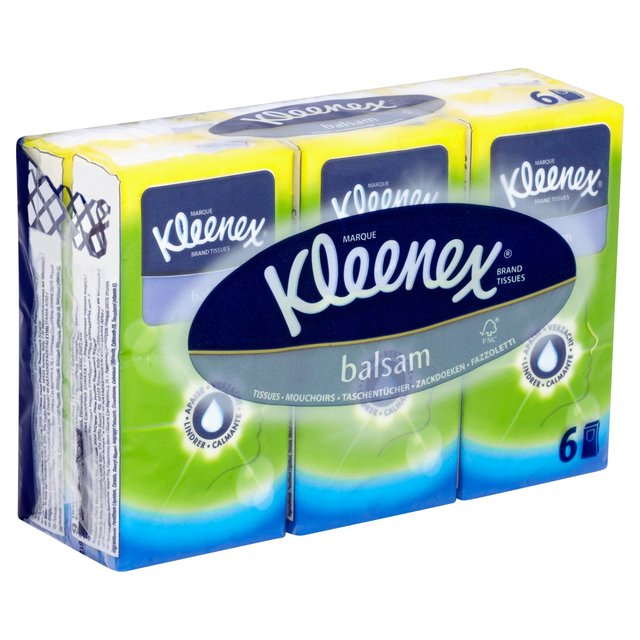 Kleenex Balsam Pocket Pack 6's