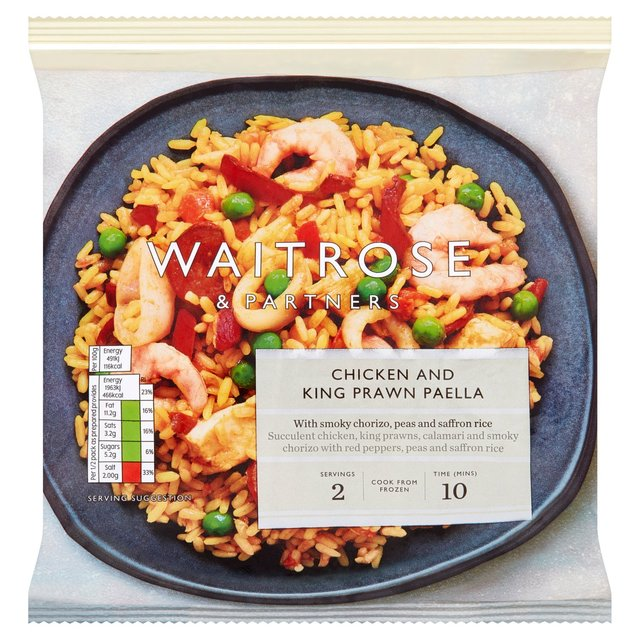 Waitrose King Prawn Chicken Paella Ocado