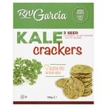 RW Garcia Kale 3 Seed Crackers Flaxseed, Black & White Sesame