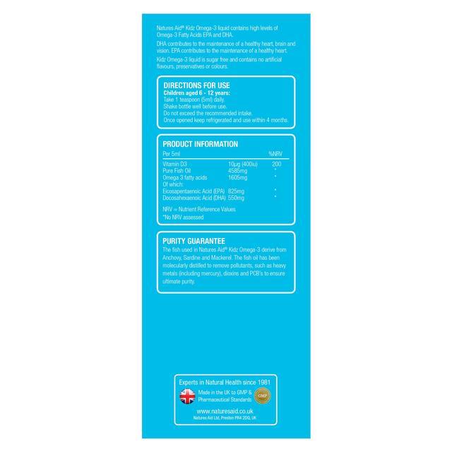 Natures Aid Kidz Omega-3 Liquid | Ocado