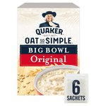 Quaker Oat So Simple Big Bowl Original Porridge