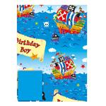 Pirate Gift Wrap Sheets