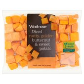 Waitrose Diced Butternut Squash & Sweet Potato