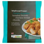 Waitrose Breaded Chicken Chunks Frozen