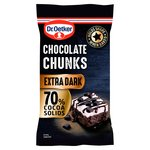 Dr. Oetker 70% Extra Dark Chocolate Chunks