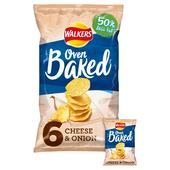 Walkers Baked Cheese & Onion Crisps 25g x
