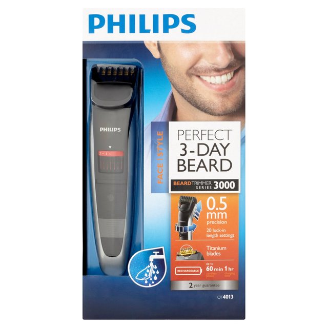 philips beard trimmer qt4013 from ocado. Black Bedroom Furniture Sets. Home Design Ideas