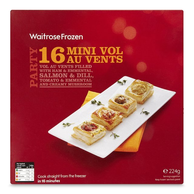 Waitrose 16 Frozen Vol au Vents