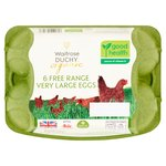 Waitrose Duchy Organic 6 Very Large Free Range Eggs British
