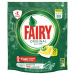 Fairy All In One Lemon Dishwasher Tablets