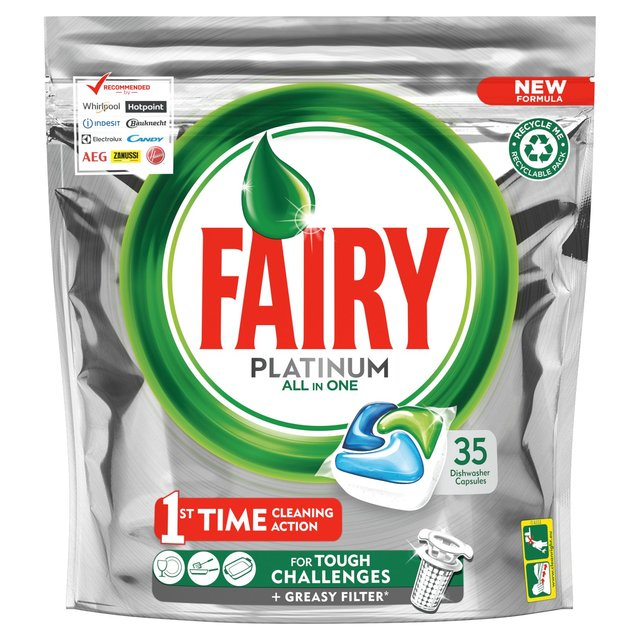 Fairy Platinum Dishwasher Tablets All In One