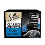 Sheba Classics Cat Food Trays Ocean Collection in Terrine