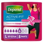 Depend Underwear for Women Female Large