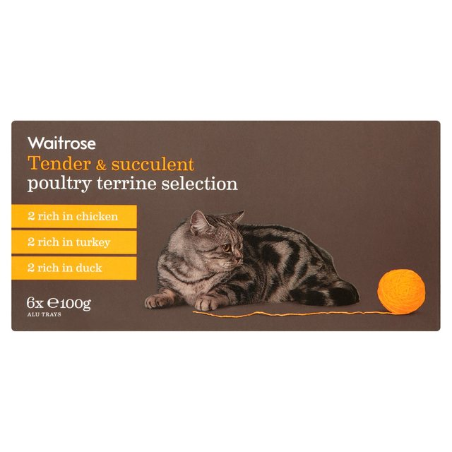 Waitrose Poultry Terrine for Cats Selection