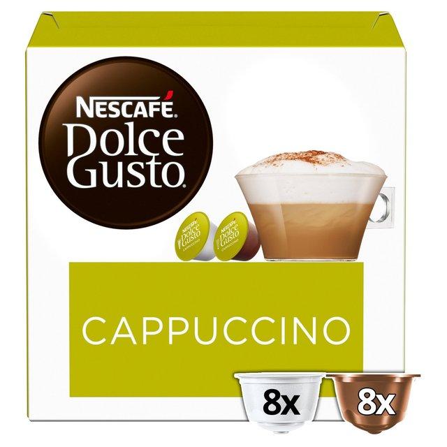 nescafe dolce gusto cappuccino pods 8 per pack from ocado