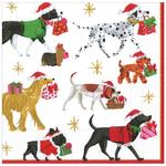 Dogs With Gifts Christmas Paper Napkins