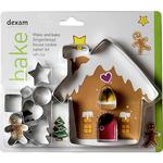 Make & Bake Gingerbread House Cookie Cutter Set