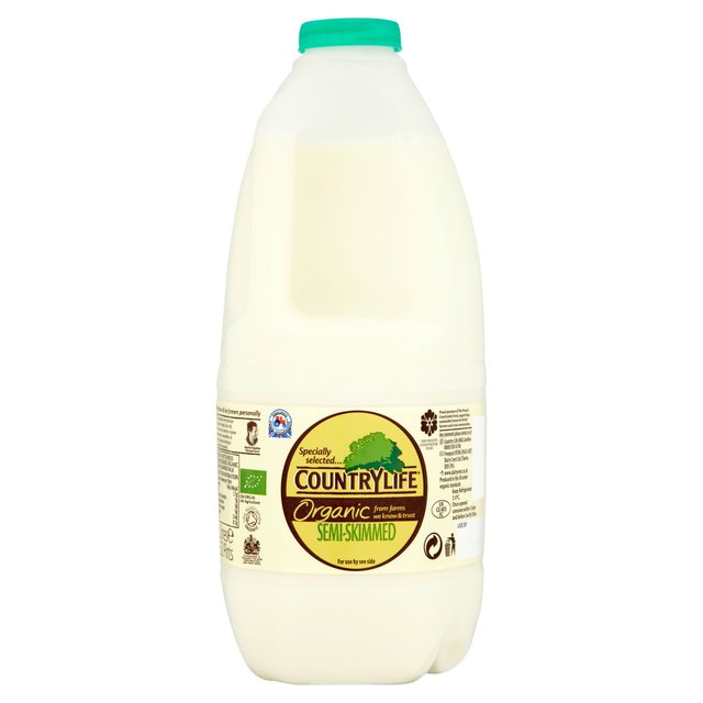 Country Life Organic Semi Skimmed British Milk