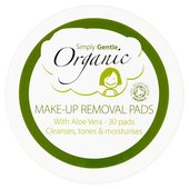 Simply Gentle Organic Make Up Remover Pads Biodegradable