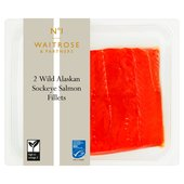 Waitrose 1 Two Wild Alaskan Sockeye Salmon Fillets
