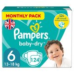 Pampers Baby Dry Nappies Size 6 Monthly Saving Pack