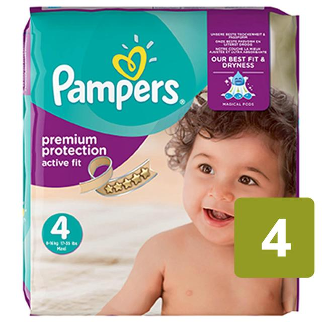 Pampers Premium Protection Active Fit Nappies Size 4 Monthly Saving Pack