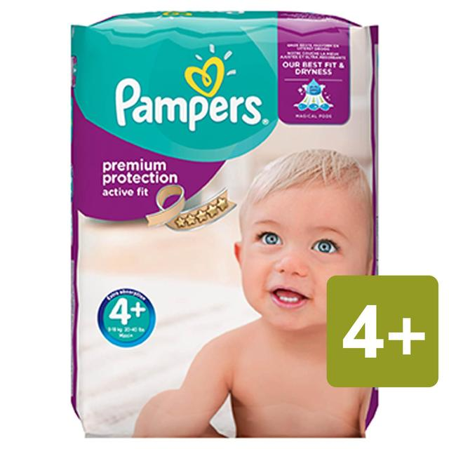 Pampers Premium Protection Active Fit Nappies Size 4+ Monthly Saving Pack