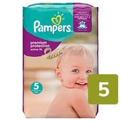Pampers Premium Protection Active Fit Nappies Size 5 Monthly Saving Pack