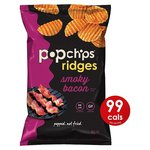 Popchips Ridges Smoky Bacon Crisps