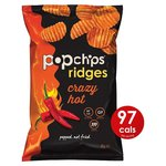 Popchips Ridges Crazy Hot Crisps